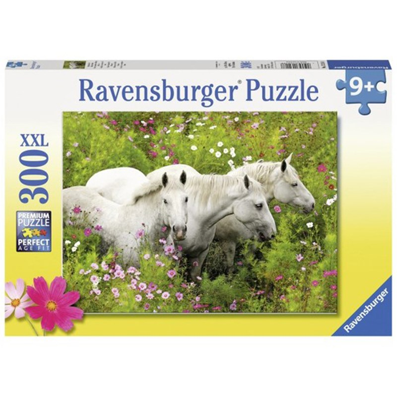 Ravensburger Puslespil Horses in a field of flowers 300 brikker 9 - 12 years