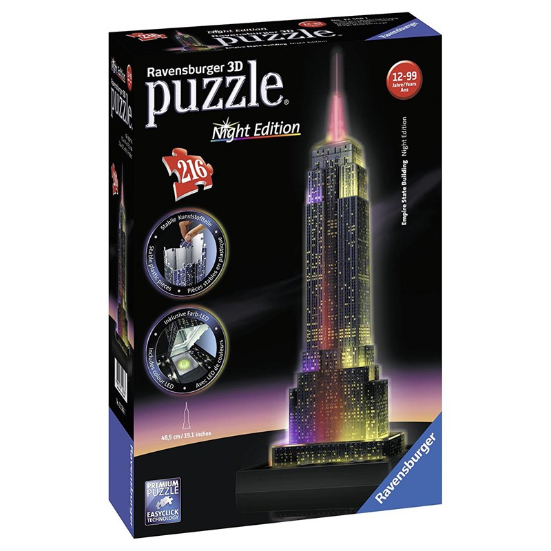Ravensburger3D Pussel Empire State Building Night Edition 216 bitar