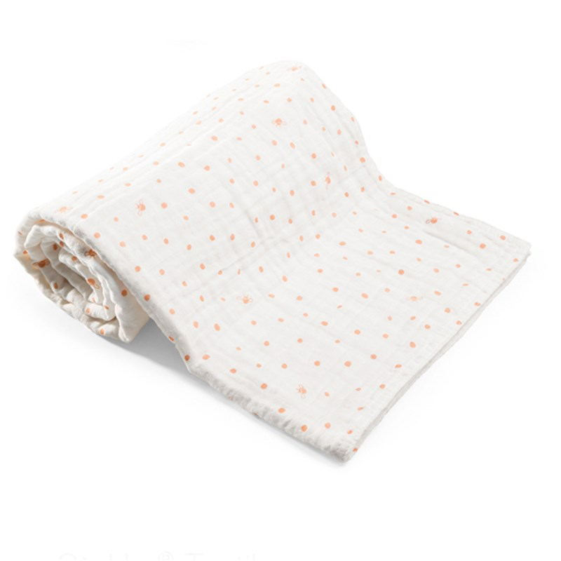 Stokke Bomullsmuslin Filt Coral Bee One Size