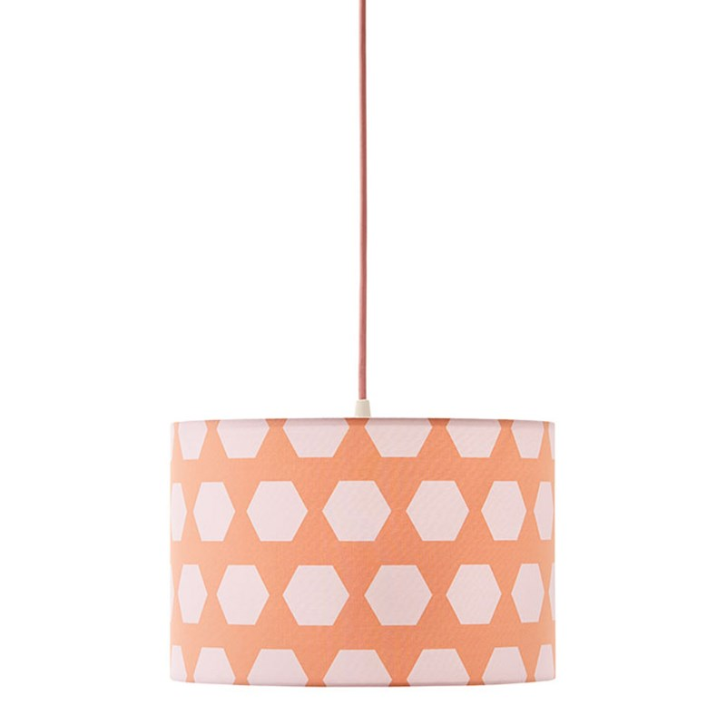 Kids Concept Taklampa Hexagon Apricot One Size