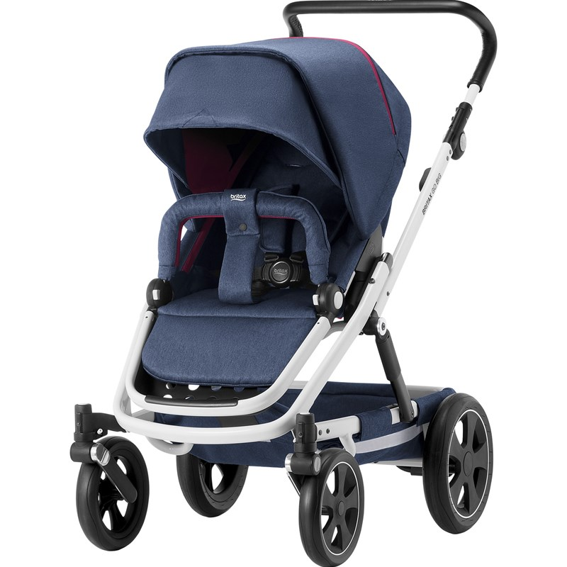 Britax GO BIG² Barnvagn Oxford Navy/Vit Chassi Go Big Oxford Navy Stroller