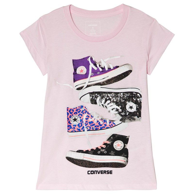 Converse Chucks T-Shirt Rosa 5-6 years