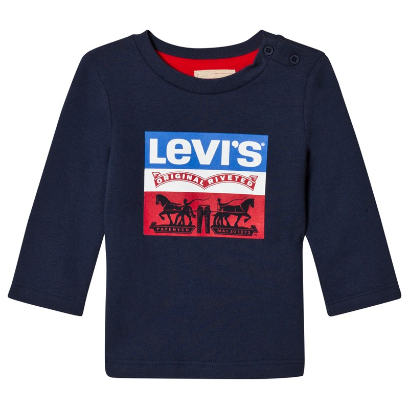 Levis Kids Authentic Logo Tröja Marinblå 12 months