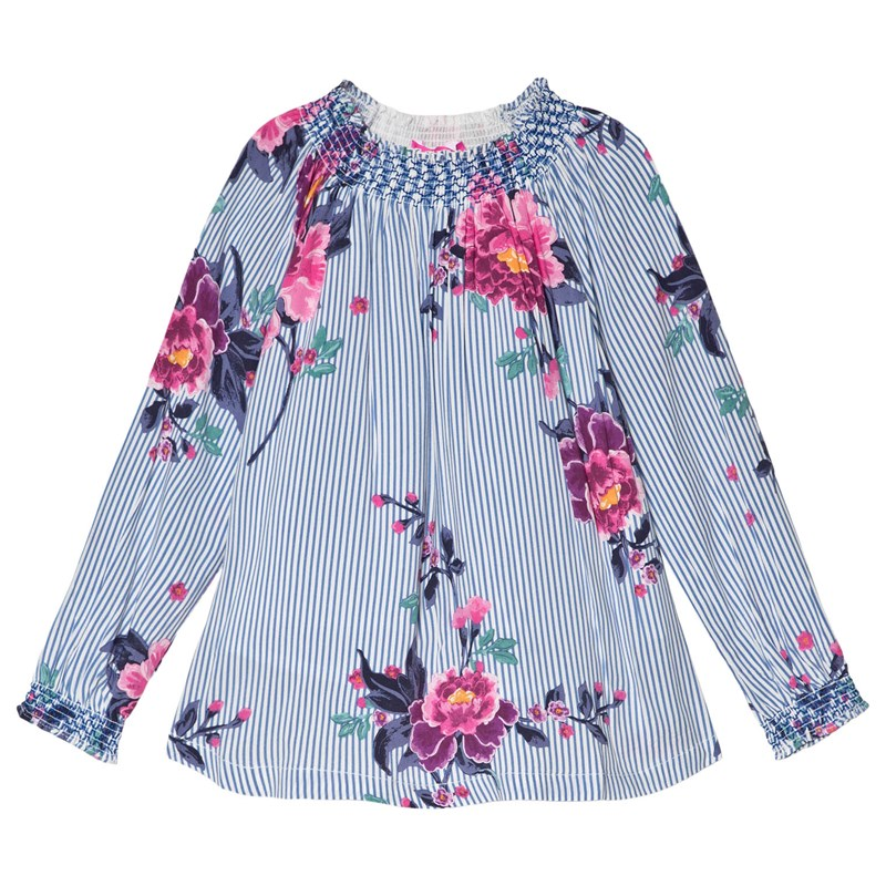Joules Addison Blus Blå/Floral 4 years
