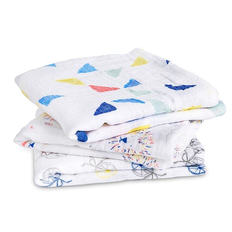 Aden + Anais 3-Pack Torklapp Graphic One Size