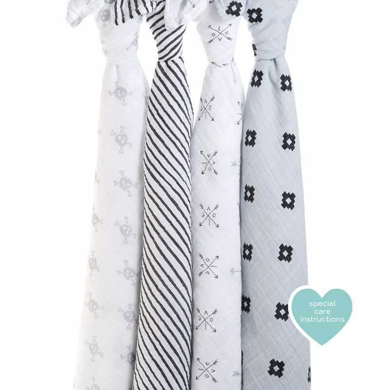 Aden + Anais 4-Pack Swaddles Lovestruck One Size