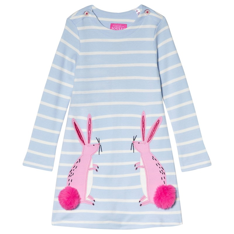 Joules Kaye Applique Klänning Skye Blue 5 years