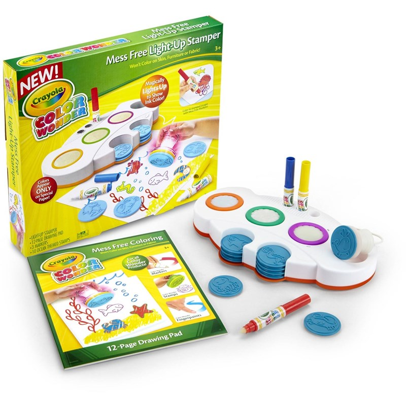 Crayola Wonder Light-Up Stamper Set Magiskt stämpelset One Size