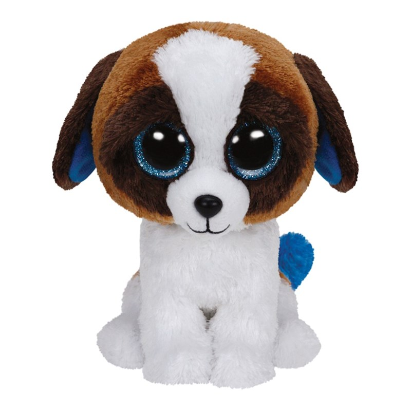 TY TY Beanie Boos, Duke, Dog, Brown/White, 23 cm One Size