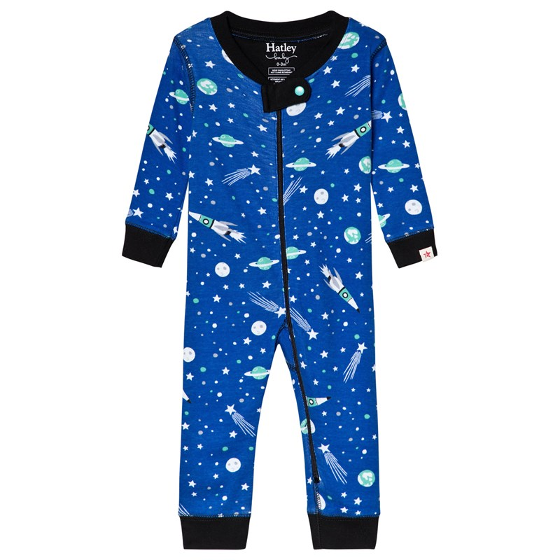 Hatley Outer Space Baby Bodysuit Blå 3-6 months