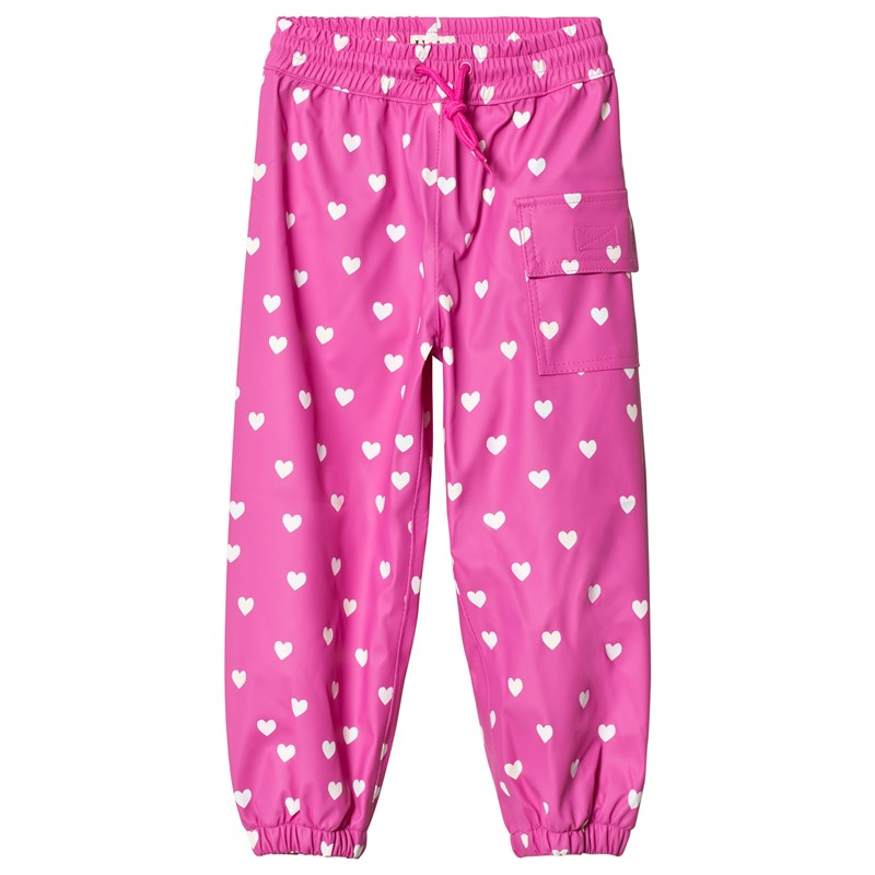 Hatley Multi Hearts Regnbyxor Rosa 6 years