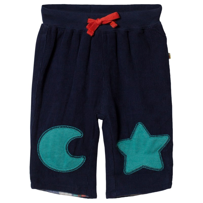 Frugi Patch Byxa Navy Moon and Star 3-4 years