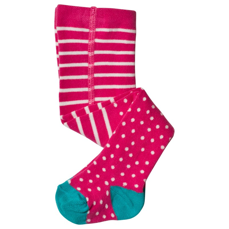 Frugi Strumpbyxa Flamingo Spot 6-8 years