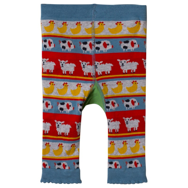 Frugi Stickade Leggings Multi Color Tractor 0-6 months