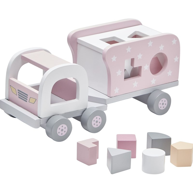 Kids Concept Klosslastbil II Rosa One Size
