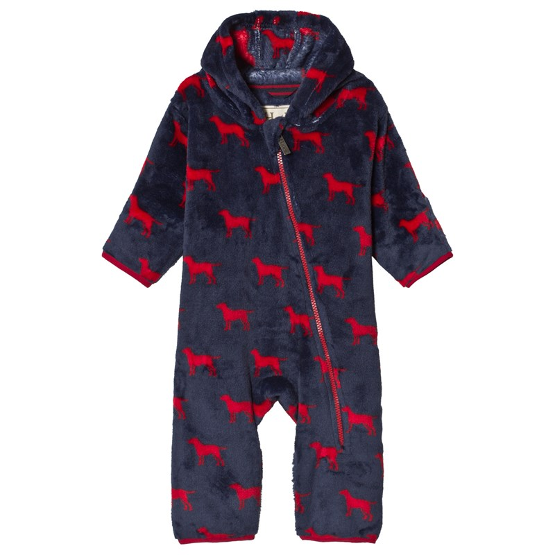 Hatley Fleece Baby Overall Red Labs 9-12 months