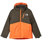 The North Face Snow Quest Plus Jacka Khaki/Orange