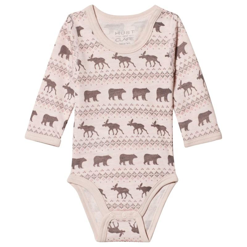 Hust&Claire Baloo Baby Body Rosa 62 cm (2-4 mån)