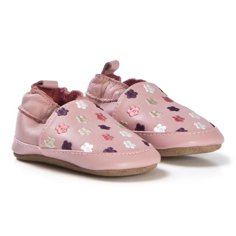 Melton Loafer Flowers Rosa Läder 18-24M/23-24