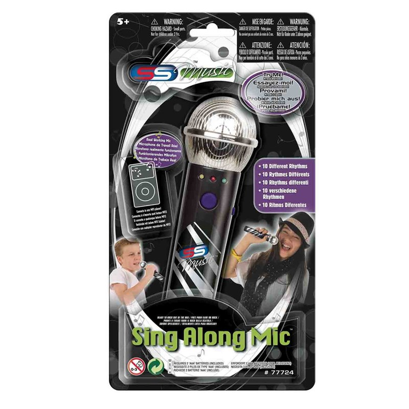 Supersonic Sing-Along Microphone with MP3 Funktion Svart 8 – 10 years