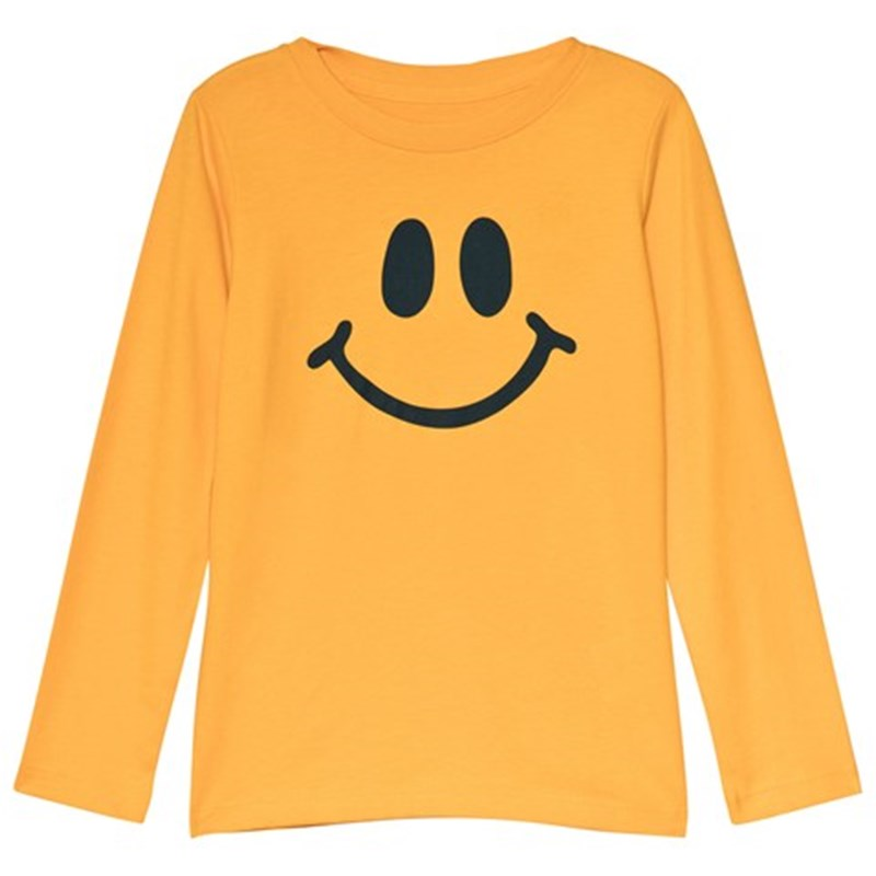 Lands' End Smiley Långärmad T-Shirt Gul 8-9 years