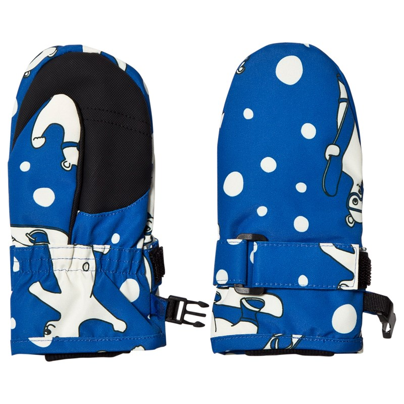 Småfolk Vantar Blue Snowboarding Polar Bear L (6 years+)