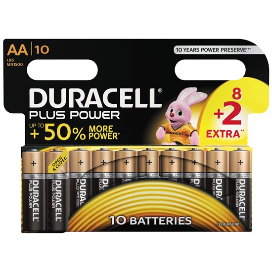 Duracell 8+2-Pack Plus Power AA-batterier