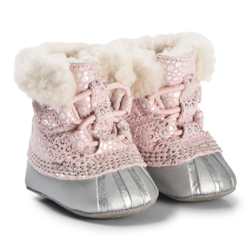 Sorel Caribootie Shearling Lined Infant Booties Rosa/Silver 16 (UK 0.5)