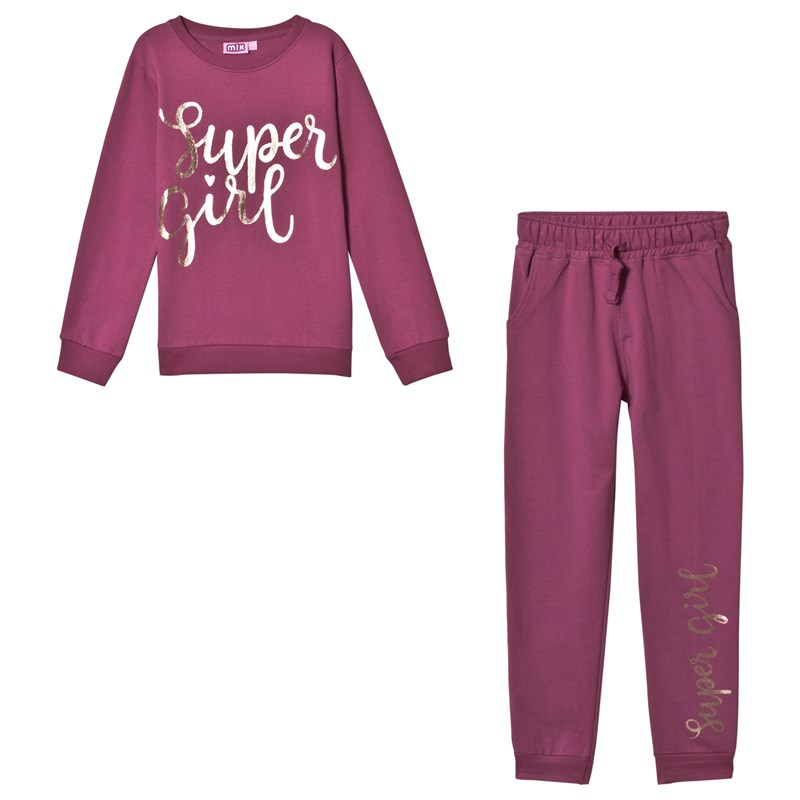 Max Collection Super Girl Mjukis Set i Dusty Grape 98-104