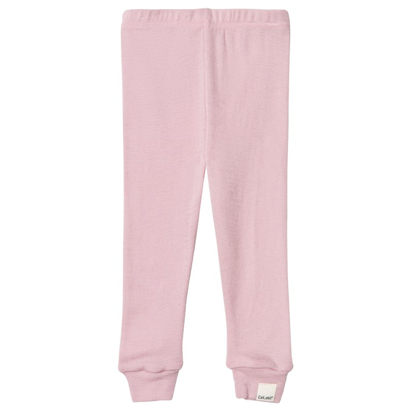 Celavi Long john -solid wool Wonder wollies - Light rose 60 cm (2-4 mån)