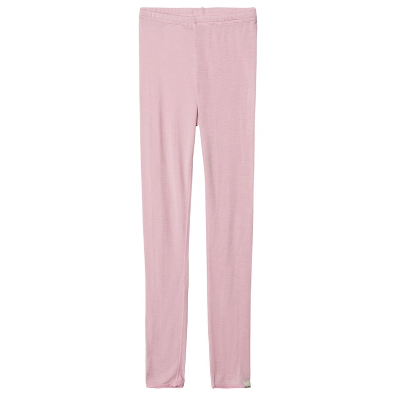 Celavi Long johns -solid wool - Light rose 130 cm