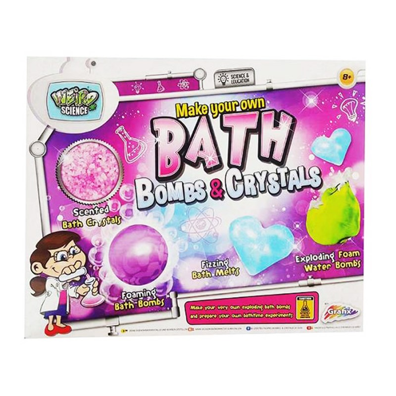 Grafix Make Your Own: Bath Bombs & Crystals Kit 8 – 12 years