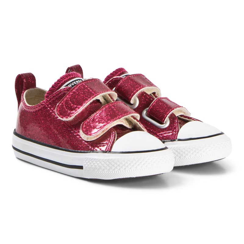 Converse Burgundy Chuck Taylor All Star 2V OX Infants Trainers 22 (UK 6)