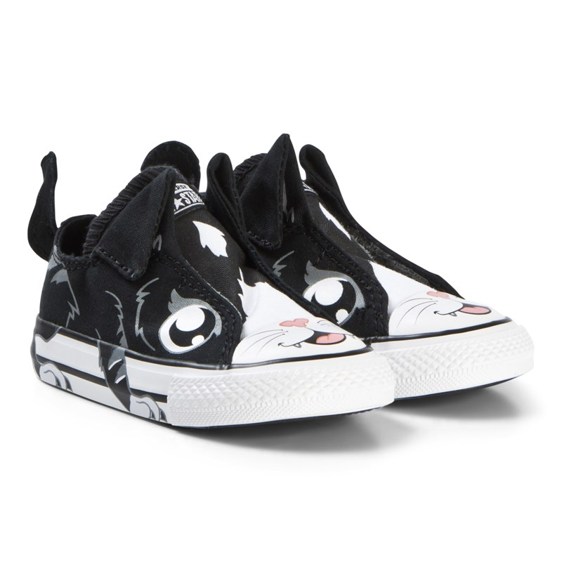 Converse Black Cat Chuck Taylor All Star Infants Trainers 22 (UK 6)