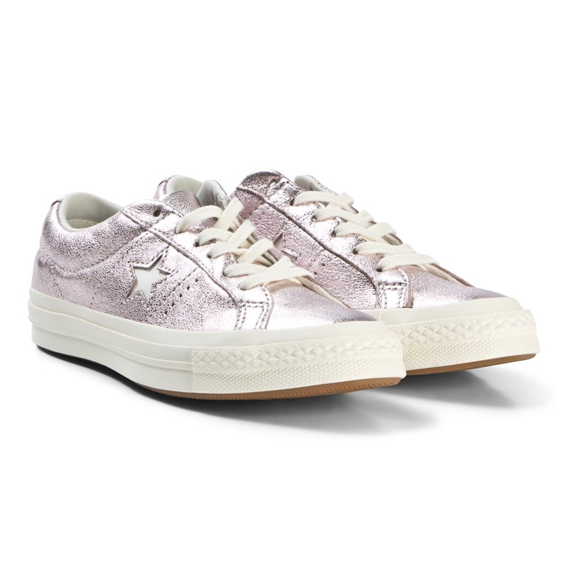 Converse Light Pink Metallic One Star OX Trainers 36.5 (UK 4)