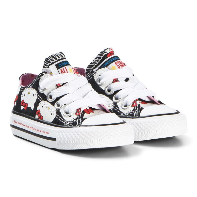 Converse Black Hello Kitty Faces One Star Velcro Trainers 21 (UK 5)