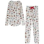 Joules Sleepwell Pyjamas Set Skiing Dog
