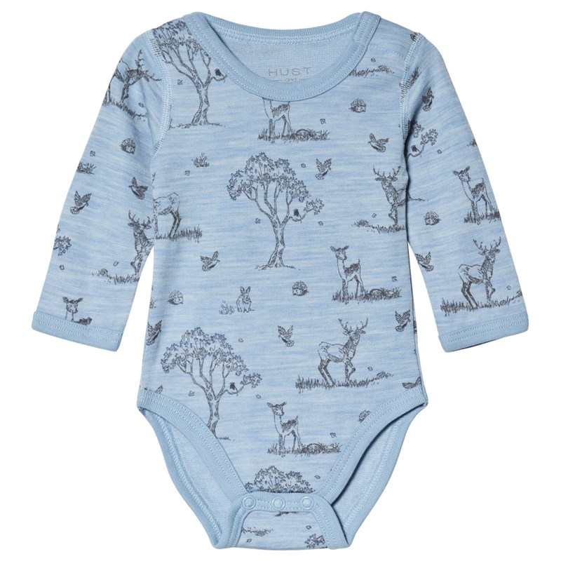 Hust&Claire Baloo Baby Body Blue Dawn Melange 74 cm (6-9 mån)