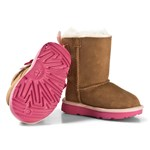 UGG Pink and Chestnut Bailey Bow II Boots