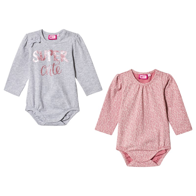 Max Collection 2-Pack Baby Body Grå/Dusty Rose 62 cm