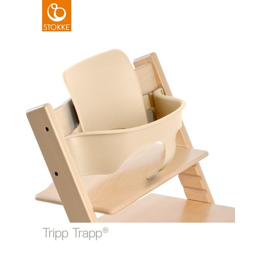 Natural Stokke Tripp Trapp Baby Set with Harness /& Extended Gliders
