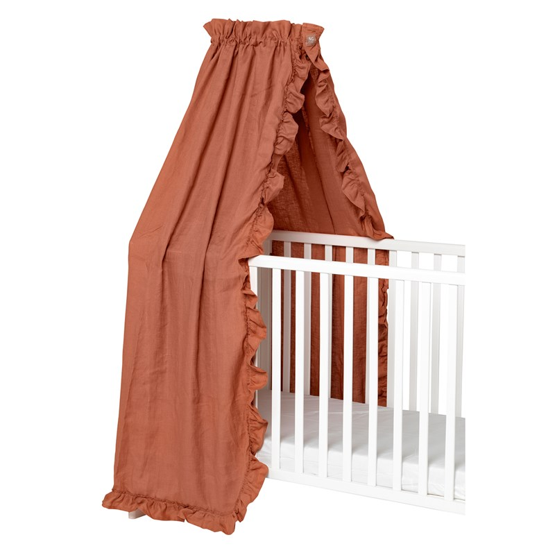NG Baby Mood Ruffles Sänghimmel 155 x 230 cm Terracotta One Size