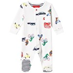 Joules Transport Animal Sparkdräkt Vit