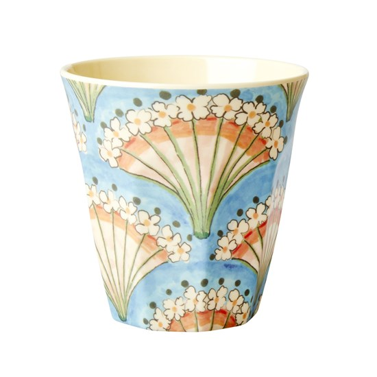Rice Melamin Mugg Medium Flower Fan