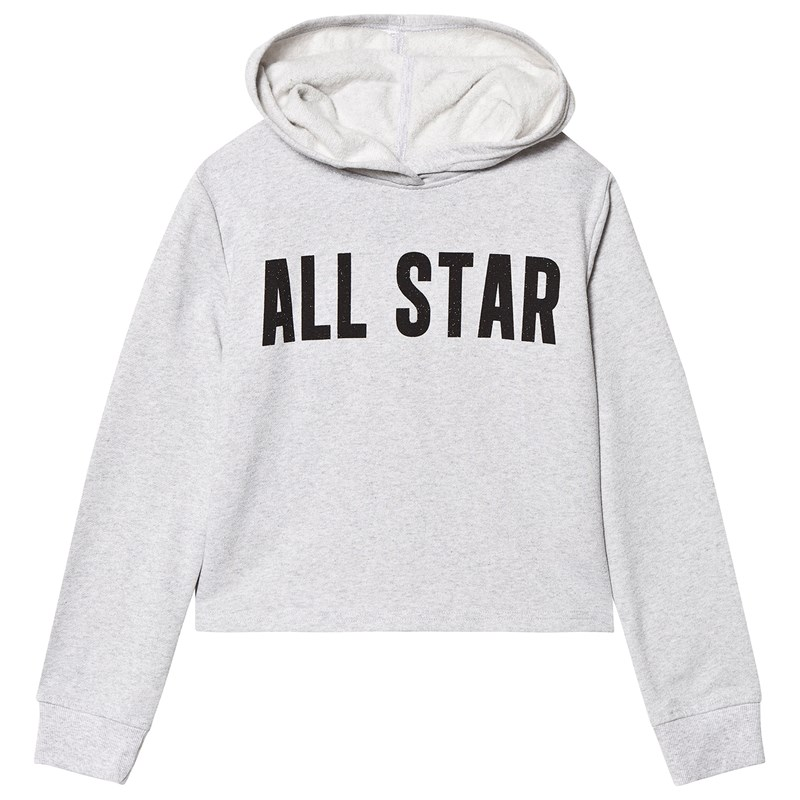 Converse Grey All Star Cropped Hoodie 12-13 years