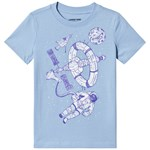 Lands' End Astronaut Print T-Shirt Pale Blue