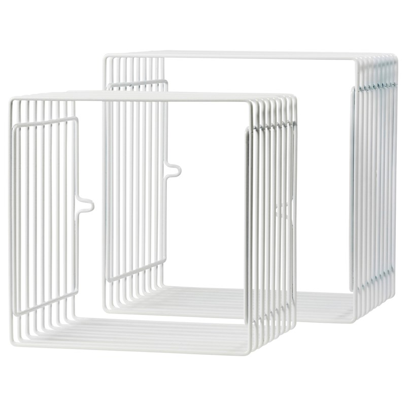 Done by Deer Wire Shelf Square 2 pcs White