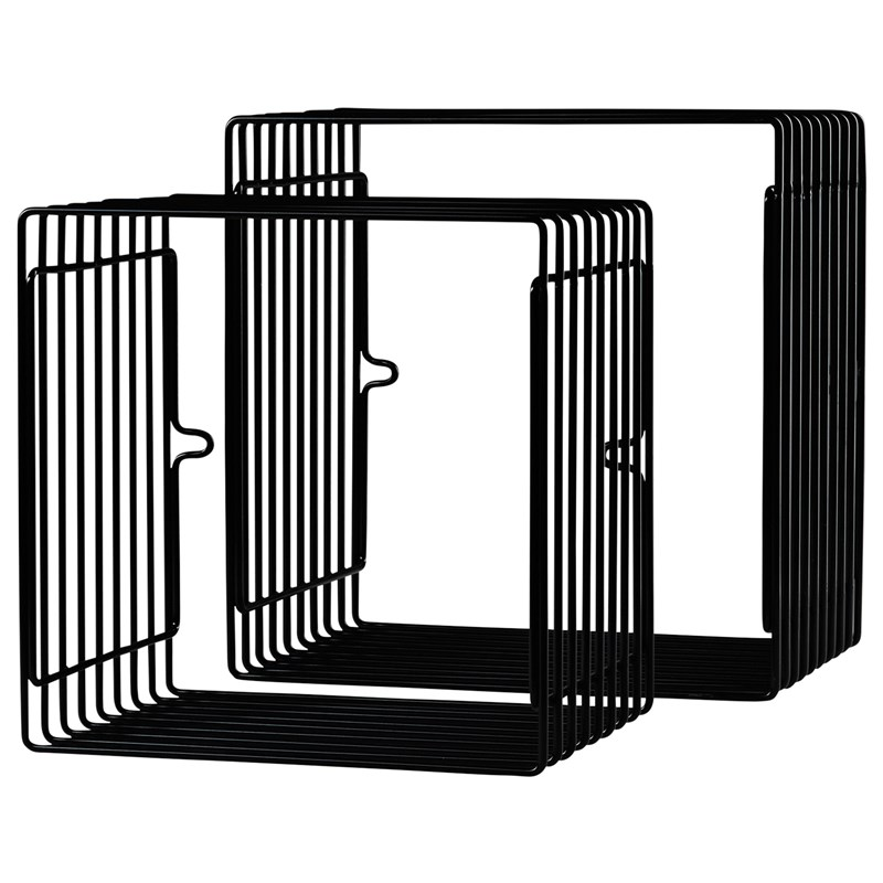 Done by Deer Wire Shelf Square 2 pcs Black