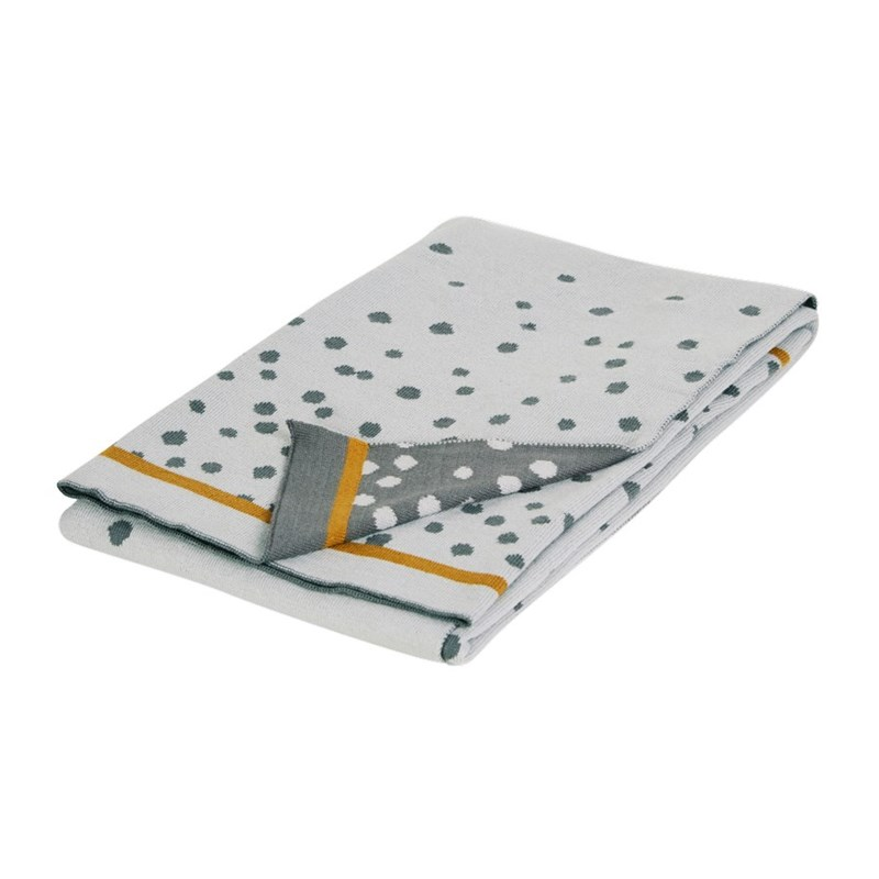 Done by Deer Knitted Blanket Happy Dots Grey One Size