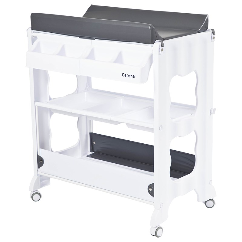 Carena Rindö Changing table with Changing Pad and bathtub Grey bed One Size